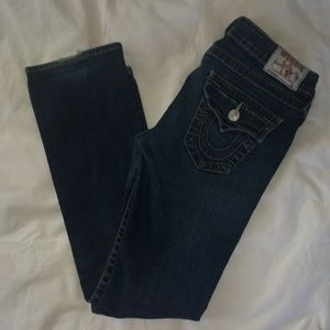 TRUE RELIGION Billy Dark Wash Blue Jeans Straight